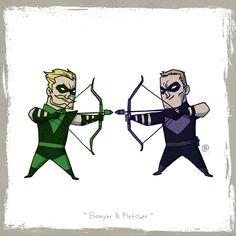 Little Friends - Green Arrow and Hawkeye by *rawlsy on deviantART Dc and Marvel comics crossover mashup Marvel Vs, Marvel Comics, Hawkeye Marvel, Green Arrow, Wade Wilson, Disney Fan Art, Comic Book Heroes, Comic Books, Hawkeye