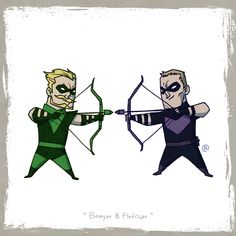 Little Friends - Green Arrow and Hawkeye by *rawlsy on deviantART