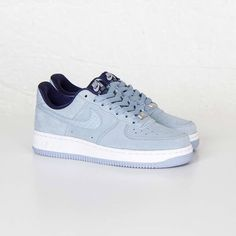 Nike Air Force 1 07 Seasonal Blue Grey. Available now. http://ift.tt/1KVedU1