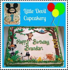 Zoo Mickey cake!