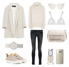 weekend attire by fashionlandscape on Polyvore featuring Mode, STELLA McCARTNEY, Zara, R13, La Perla, Converse, Proenza Schouler, Braun, Oliver Peoples and Leighton Denny