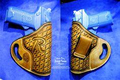 Pirate holster, for a friend... www.slickbald.com #leather #avenger #ruger #p85 #holster