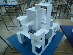 Concept Models Architecture, Architecture Student, Architecture Drawings, Modern Architecture, Landscape Model, Model Sketch, Arch Model, Button Art, Cube