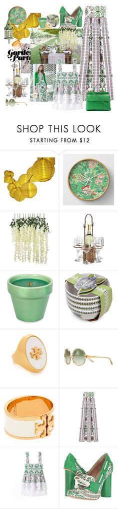 """Garden Party"" by juliabachmann ❤ liked on Polyvore featuring Artland, Tory Burch, WoodWick and Portmeirion"