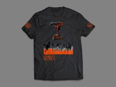 "Przejrzyj mój projekt w @Behance: ""TSHIRT - Black&decker tshirt casual""…"