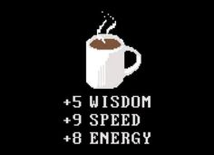 Coffee geek'd up and 8 bit'd out