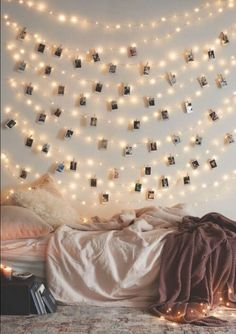 Cool Ways To Use Christmas Lights - Frameless Photos - Best Easy DIY Ideas for String Lights for Room Decoration, Home Decor and Creative DIY Bedroom Lighting - Creative Christmas Light Tutorials with Step by Step Instructions - Creative Crafts and DIY Pr Dream Rooms, Dream Bedroom, Diy Bedroom, Bedroom Apartment, Light Bedroom, Summer Bedroom, Master Bedroom, Budget Bedroom, Design Bedroom