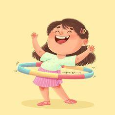 Cartoon Kids, Girl Cartoon, Cartoon Art, Children's Book Illustration, Character Illustration, Book Illustrations, Digital Illustration, Bear Character, Character Design