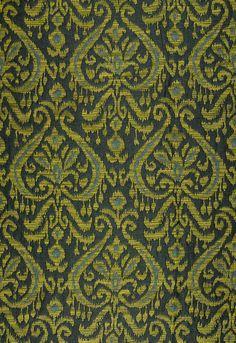 Maroc Linen Damask Viridian Fabric