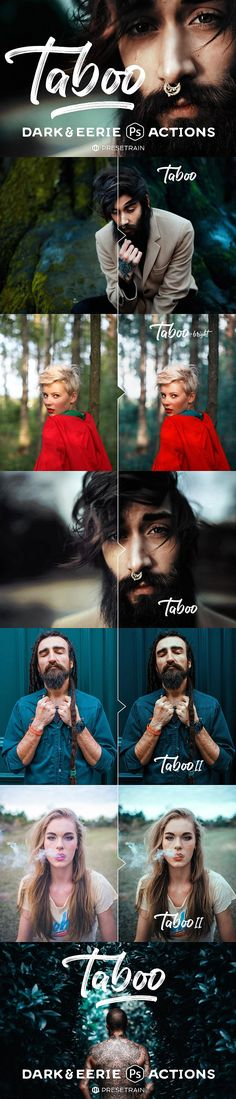 Taboo Dark Fantasy Photoshop Actions by Presetrain Co. on @creativemarket