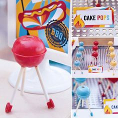 Memorial Day Sweet Treats: Covered grill cake pops by kCreative #summer #bbq #holidays