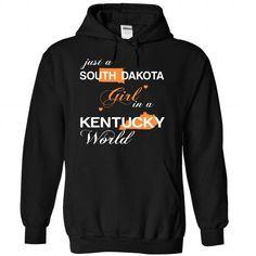 (SDJustCam002) Just A South Dakota Girl In A Kentucky W - #tshirt style #cool hoodie. HURRY => https://www.sunfrog.com/Valentines/-28SDJustCam002-29-Just-A-South-Dakota-Girl-In-A-Kentucky-World-Black-Hoodie.html?68278