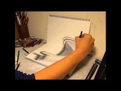 FUN VIDEO: The making of 3-D ART (Hand to jump out) - watch as Nagai Hideyuki makes a 3-D drawing    ...very cool !