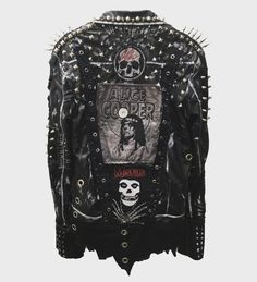 Vampire War distressed, studded, spiked rocker jackets from ChadCherryClothing.