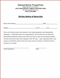 editable 30 day notice to vacate apartment template letter of intent to vacate apartment template doc
