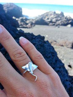 Sting Ray Ring, Manta Ray Ring, Sterling Silver ring, Ocean ring, sea creatures