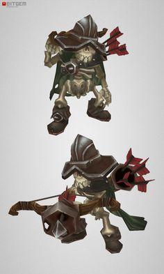 Low Poly Skeleton Archer