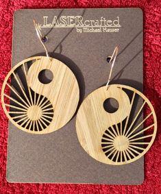 Laser-cut Yin Yang Sunbeams Earrings