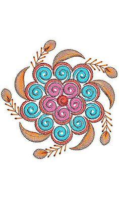 Tablerunner Applique Embroidery Design