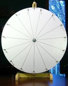 "Best-Value Longest-Lasting 24"" Dry Erase White Prize Wheel w/ Free Template"