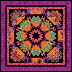 Mardi Gras Magic. My newest free pattern from http://www.equilter.com/pattern/556