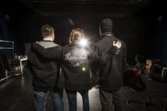 Joana, Chris and Jens - Thomann team members - wearing clothes from the limited Passion! Collection #fashion #music #thomann #passion