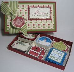 This cute box was CASEd from Carla Brasher's awesome tutorial!  See complete details of my project, including a link to her tutorial, on my blog:  http://toocoolstamping.typepad.com/toocoolstamping/2010/12/tags-til-christmas-gift-tags-set.html