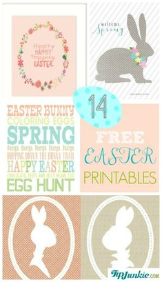 Tip Junkie's Easter projects will have you all set with pictured tutorials and craft ideas! To make it really easy for you to celebrate, here are free Easter printables that are perfect for decorating your home or party.  They're sure to put you in the Easter spirit!