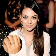 Mila Kunis' engagement ring is the bomb! Have you found yours? Check out IceCarats.com for inspiring engagement rings!  Use code INSTALOVE for 10% discount on your #engagementrings  #icecarats #jewelry #fashion #accessories #jewelryjunky #latestfashion #t