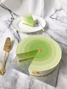 Matcha ombré cheesecake | Evan's Kitchen Ramblings