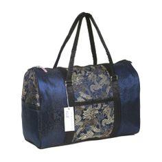 """Large Blue Dragon Brocade Travel Bag 18""""W x 8""""D X 12""""H G&Z,http://www.amazon.com/dp/B00B5K4H4E/ref=cm_sw_r_pi_dp_L0mdtb1DWADQADSW"""