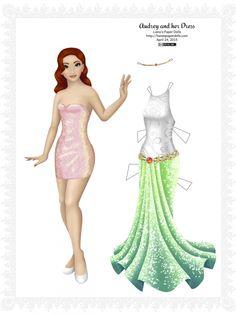 Бумажные куклы с очень красивыми и необычными платьями