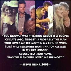 Stevie quote about Lindsey
