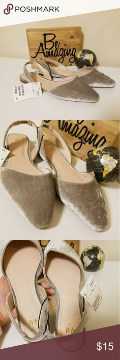 NWT H&M gorgeous velvet flats Gray velvet flats, very comfortable. Size 8. H&M Shoes Flats & Loafers