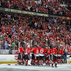 The Blackhawks are Western Conference Champions. 2012-13