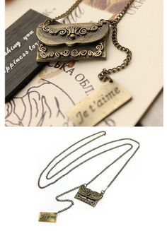 Vintage Love Letter Necklace. Can recreate using polymath clay