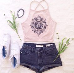 Halter top with keds