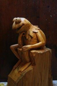 Výsledek obrázku pro wood sculpture frog