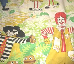 Vintage McDONALDs Fabric Material Characters by JewelsThings, $45.00