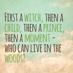 Moments in the woods. My fave song from Into The Woods :) Musical Theatre Broadway, Music Theater, Into The Woods Quotes, Bernadette Peters, Theatre Nerds, I Cant Even, Musicals, Lyrics, It's Coming