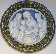 della Robbia - The holy family & Saint John Baptist #TuscanyAgriturismoGiratola