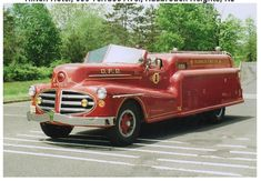 OLDE FIRE TRUCKS & EQUIPMENT - 1940's MONARCH STREAMLINED FIRETRUCK - OLDWICK FIRE DEPARTMENT