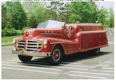 OLDE FIRE TRUCKS & EQUIPMENT -  1940's MONARCH STREAMLINED FIRETRUCK - OLDWICK FIRE DEPARTMENT