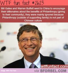 Philanthropy Is Not Part Of Chinese Culture… every wan for wanself