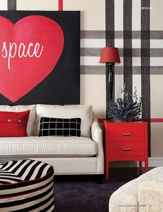 What a fun, energetic pop of red!  Happy Valentine's Day!