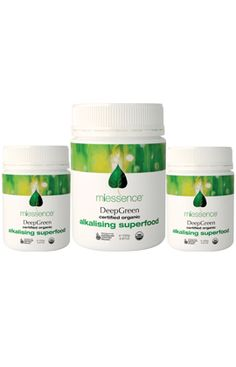 Great Value! Miessence Certified Organic DeepGreen Triple Pack. Alkalising goodness with grass juice powders