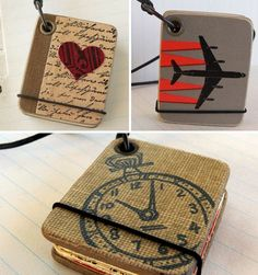 Clever little journal necklaces for fun!