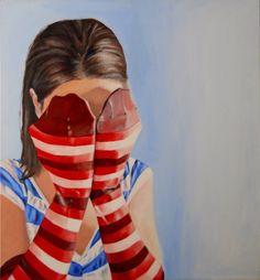 Self-portrait, acrylic on canvas, 65x70 cm