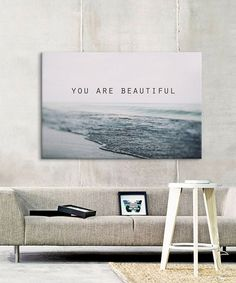 Alicia Bock You Are Beautiful Wrapped Canvas | zulily