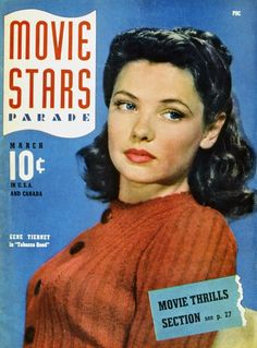old movie stars photos | Gene Tierney Movie Posters From Movie Poster Shop